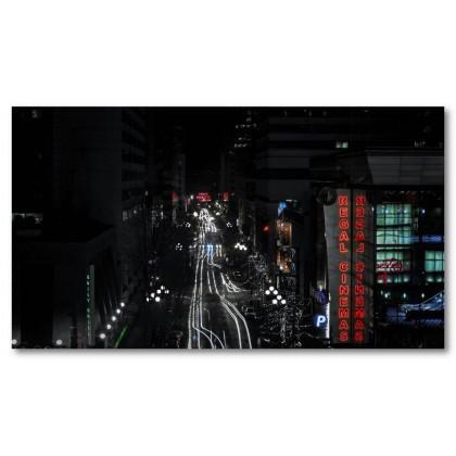Αφίσα (Σιάτλ, νύχτα, φως, μαύρο, λευκό, άσπρο)